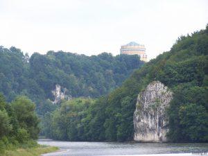 Auf der Donau vor Kelheim