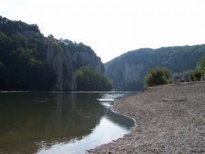 Donau vor dem Kloster Weltenburg