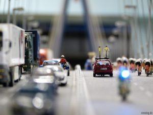 Stau auf der Brücke