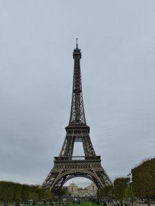 Der Eiffelturm vom Champ de Mars