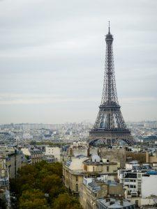 Eiffelturm vom Triumphbogen aus