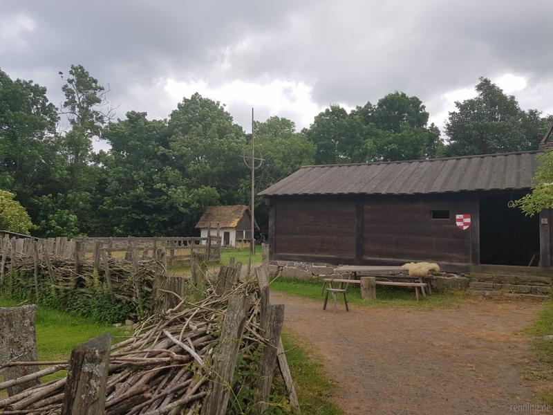 Hof im Mittelalterzentrum Bornholm